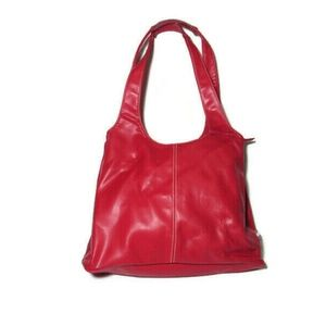 Nine West Vegan Leather Christmas Red Hobo Purse B